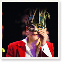 An image of a boy taken from Shakespeare Schools Festival